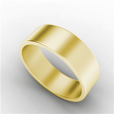 Mens Court Ring Yellow Gold $517.95