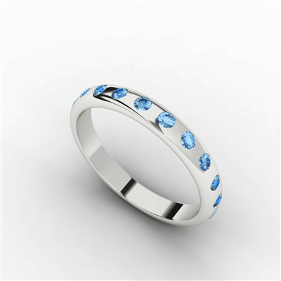 Womens Eternity Ring Blue Topaz $438.95 - Sydney Socials Fave!