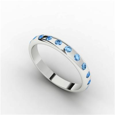Womens Eternity Ring Blue Topaz $438.95 - Sydney Socials Fave!