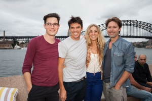 d Downorme, Stuart Welch, Polly Welch & Aaron Renolds. Summer at The House, Opera Bar VIP launch event. Photographer: Xiaohan Shen.